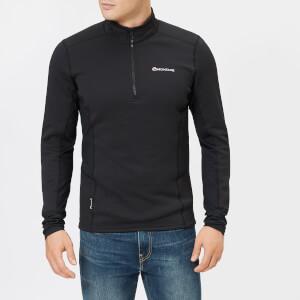 Montane Men's Iridium Hybrid Pull On Fleece Jumper - Black