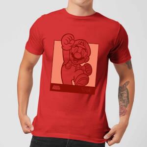 Nintendo Mario Kanji Line Art Herren T-Shirt - Rot