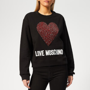 Love Moschino Women's Heart Logo Sweater - Black