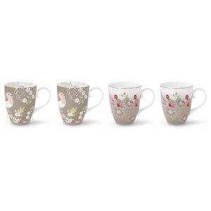 Pip Studio Large Mugs - Khaki (Set of 4)