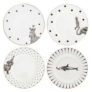 Yvonne Ellen Mixed Side Plates - White (Set of 4)