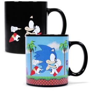 Sonic The Hedgehog Tasse mit Thermoeffekt