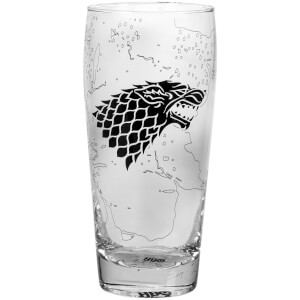 Game Of Thrones Glass Pilsner - King In The North