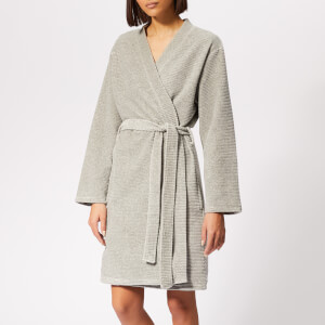 Calvin Klein Women's CK Logo Robe - Grey Heather