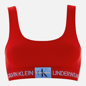 Calvin Klein Women's Monogram Bralette - Red