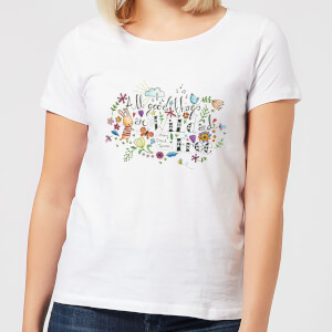 A Little Cloth Rabbit All Good Things Are Wild and Free Women's T-Shirt - White