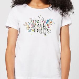 A Little Cloth Rabbit Enjoy The Little Things Women's T-Shirt - White