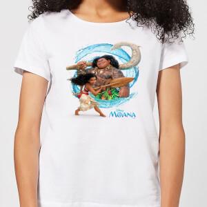 Camiseta Disney Vaiana Ola - Mujer - Blanco