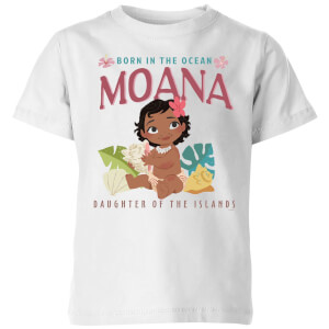 T-Shirt Enfant Born In The Ocean Vaiana, la Légende du bout du monde Disney - Blanc