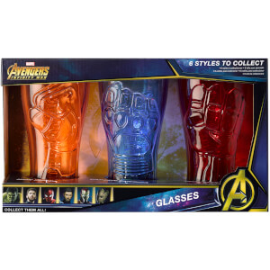 Meta Merch Marvel Infinity Stone Gläser – Iron Man, Captain America und Iron Spider