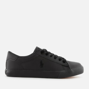 Polo Ralph Lauren Kids' Easten Tumbled Leather Trainers - Triple Black