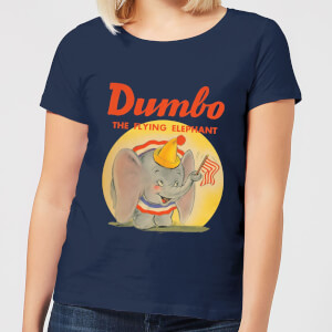 T-Shirt Femme Flying Elephant Dumbo Disney - Bleu Marine