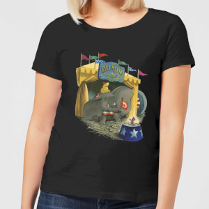 Dumbo Circus Women's T-Shirt - Black