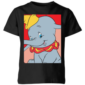 Dumbo Portrait Kinder T-Shirt - Schwarz
