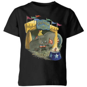 Dumbo Circus Kids' T-Shirt - Black
