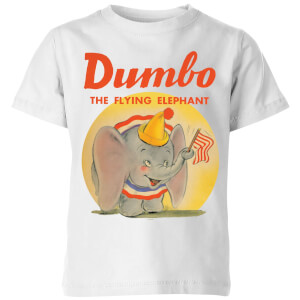 T-Shirt Enfant Flying Eléphant Vintage Dumbo Disney - Blanc
