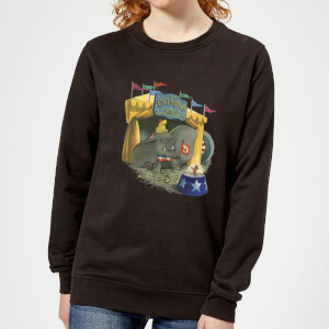 Dumbo Circus Women's Sweatshirt - Black
