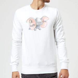 Dumbo Happy Day Sweatshirt - White