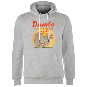 Dumbo Flying Elephant Hoodie - Grey
