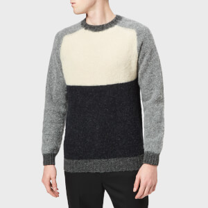 Howlin' Men's Pannelled Crew Knitted Jumper - Cream