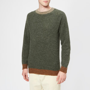 Howlin' Men's Captain Harry Trim Detail Knitted Jumper - Leaf