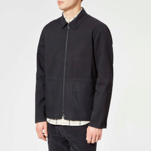 Folk Men's Zip Through Shirt Jacket - Charcoal