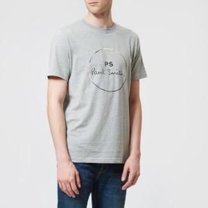 PS Paul Smith Men's Circle Logo Regular Fit T-Shirt - Grey