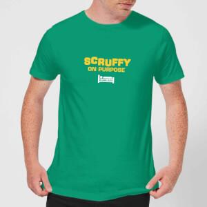 Plain Lazy Scruffy On Purpose Men's T-Shirt - Kelly Green