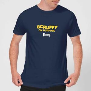 Plain Lazy Scruffy On Purpose Men's T-Shirt - Navy