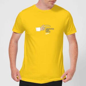 Plain Lazy Bananas Not Guns Men's T-Shirt - Yellow