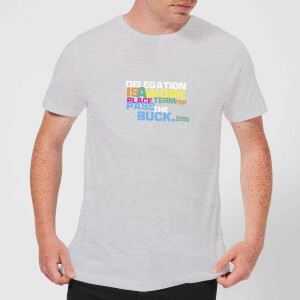 Plain Lazy Delegation Men's T-Shirt - Grey