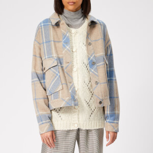 Gestuz Women's Havana Jacket - Tan Check