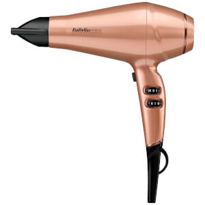 BaByliss PRO Keratin Lustre Hair Dryer - Rose Gold - GB Stecker