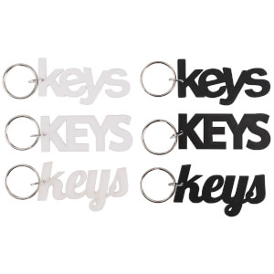 Assorted Keys Keyring
