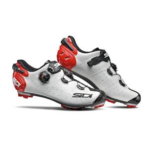 Sidi Drako 2 SRS MTB Shoes - White/Black/Red