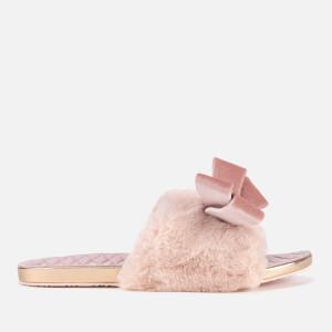 Ted Baker Women's Blings Faux Fur Slip-On Slippers - Light Pink