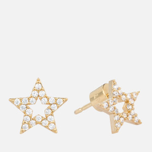 Astrid & Miyu Women's New Tricks Star Earrings - Gold