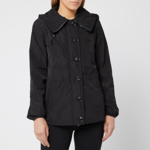 Emporio Armani Women's Short Water Repellent Jacket with Hood - Black