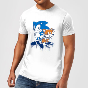 Sonic The Hedgehog Graffiti Men's T-Shirt - White