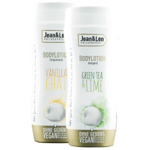 Jean&Len Bodylotion anregend Green Tea & Lime / Vanilla Chai