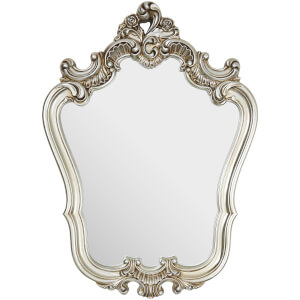 Premier Housewares Rose Crest Ornate Wall Mirror - Champagne