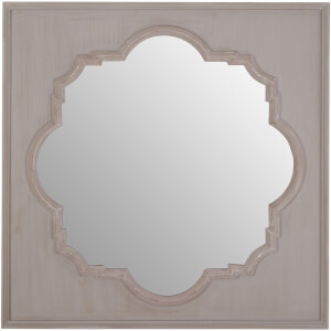 Premier Housewares Gladys Wall Mirror - Fossil Grey/Antique Taupe