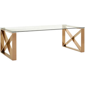 Fifty Five South Allure Coffee Table - Rose Gold