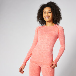 Inspire Seamless Long-Sleeve Top - Korallröd