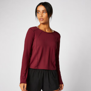 Dry-Tech Long-Sleeve Top - Vinröd