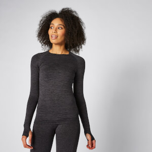 Inspire Seamless Long-Sleeve Top - Black