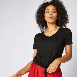 Twist Short Sleeve T-Shirt - Black
