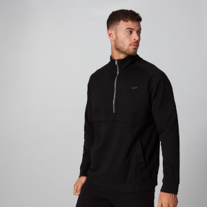 City ½ Zip Pullover - Schwarz