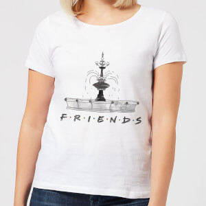 Friends Fountain Sketch Damen T-Shirt - Weiß