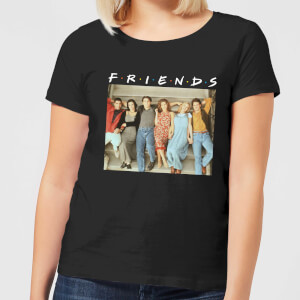 Friends Retro Character Shot Damen T-Shirt - Schwarz